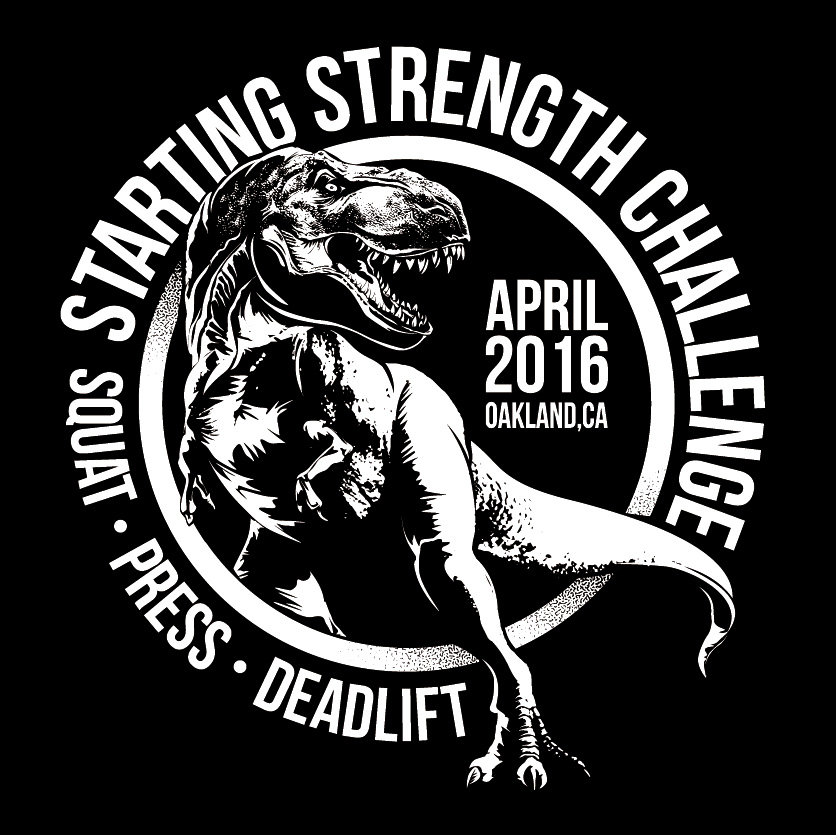 Starting Strength Challenge Dinosaur
